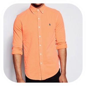 Ralph Lauren Medium Classic Fit Peach Dress Shirt